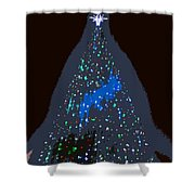 The Christmas Star Shower Curtain