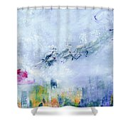 The Christmas Wrapping By Lisa Kaiser Shower Curtain