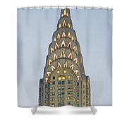 The Chrysler At Dusk Shower Curtain