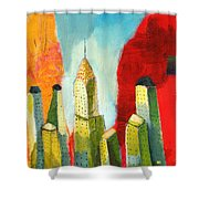 The Chrysler In Colors Shower Curtain