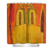 The Chrysler In Red Shower Curtain