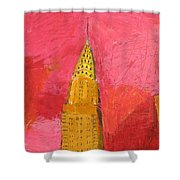 The Chrysler With Red Shower Curtain