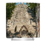 The Church At Grupo Coba At The Coba Ruins  Shower Curtain