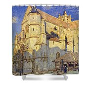 The Church At Moret Shower Curtain