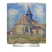 The Church At Porte-joie On The Eure Shower Curtain