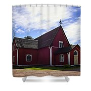 The Church Of Kustavi Shower Curtain
