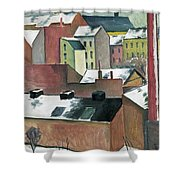 The Church Of St Mary In Bonn In Snow Shower Curtain
