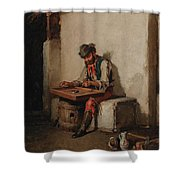 The Cimbalom Player Shower Curtain