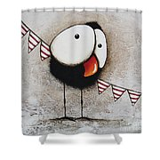 The Circus Crow Four Shower Curtain