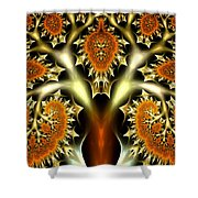 The Citrus Tree Shower Curtain