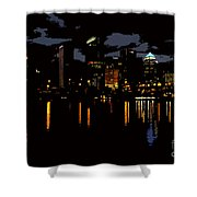 The City Dark Shower Curtain