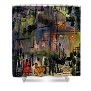 The City Garden Shower Curtain