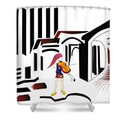The City Musician  Shower Curtain