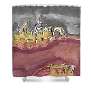 The City Of Nineveh With Stormfront Shower Curtain