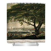 The City Of Philadelphia In The State Of Pennsylvania. North America Shower Curtain