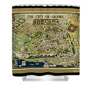 The City Of Quebec Canada Shower Curtain