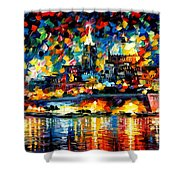 The City Of Valetta - Malta Shower Curtain