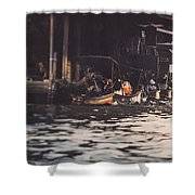 The City On The Water. Thailand. Shower Curtain