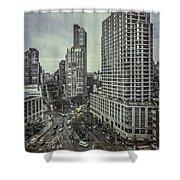 The City Shuffle Shower Curtain