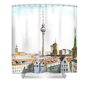 The Cityscape Of Berlin Shower Curtain