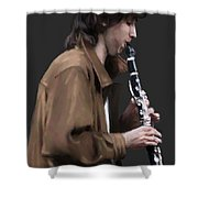 The Clarinet Player Shower Curtain