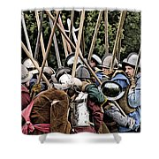 The Clash Of The Pikemen Shower Curtain