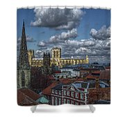 The Clifford Tower View Shower Curtain