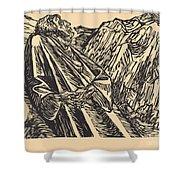 The Cliffs Shower Curtain
