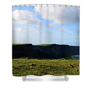 The Cliff's Of Moher In Ireland With Beautiful Skies Shower Curtain