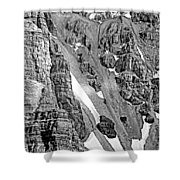 The Climb To Abbot's Hut Bw Shower Curtain