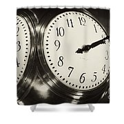 The Clock At Grand Central Shower Curtain