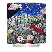 The Clock Is Ticking Shower Curtain