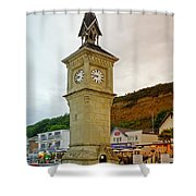 The Clock Tower At Shanklin Shower Curtain