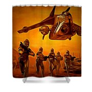 The Clone Wars Shower Curtain