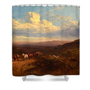 The Close Of The Day Shower Curtain