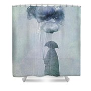 The Cloud Seller Shower Curtain by Eric Fan