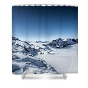 The Clouds Below Shower Curtain