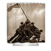 The Clouds Over Iwo Jima Shower Curtain