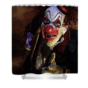 The Clown Shower Curtain by Mary Hood
