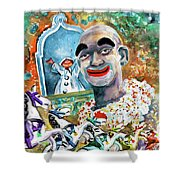The Clown Of Tivoli Gardens Shower Curtain