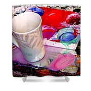 Mug And Palatte Shower Curtain