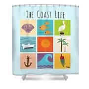 The Coast Life Shower Curtain