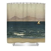 The Coast Of Asia Minor Shower Curtain