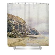 The Coast Of Cornwall  Shower Curtain by John Mogford