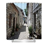 The Cobbled Back Streets Surrounding Old Marmaris Shower Curtain