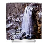 The Cold Morning Shower Curtain