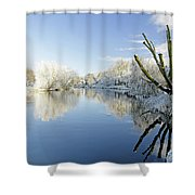 The Cold River Shower Curtain