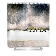 The Cold Walk Shower Curtain