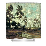 The Colliers' Hut In The Forest Of Fontainebleau Shower Curtain