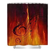 The Color Of Music Shower Curtain
